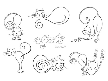 Set vector cats Vector