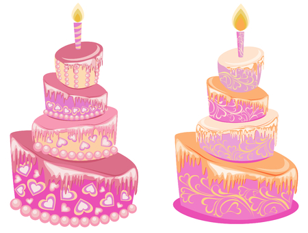 Birthday cake, vector  Vector