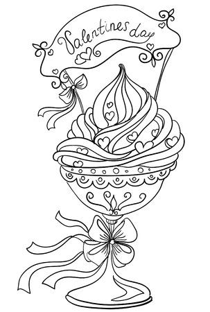 Vector hand drawing dessert Vector