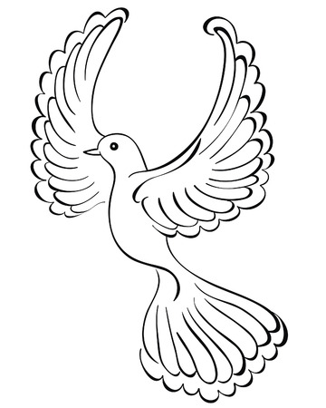 Vector illustration of flying dove Vector