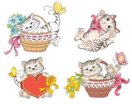 gato dibujo: Caricatura lindo gato