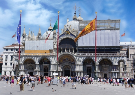 Basilica of St Mark at Piazza San Marco  Venice Italy