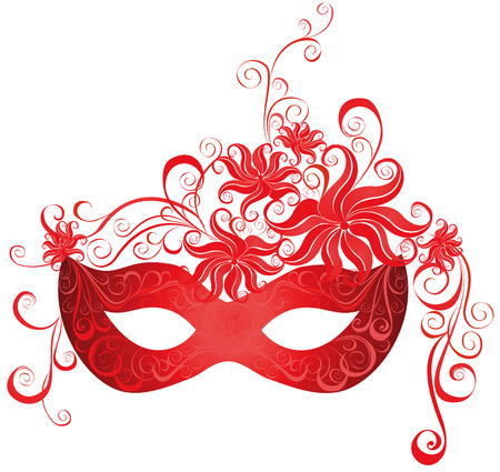rot: Venezianischen Karneval Maske Vektor-Illustration