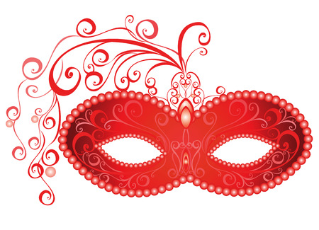 Máscara de carnaval veneciano ilustración vectorial Foto de archivo - 23856171