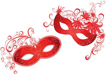 Venetiaanse carnaval masker Vector illustratie Stock Illustratie