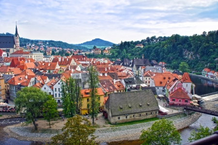 Panorama of Cesky Krumlov Czech republic  photo