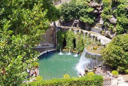 villas:  Fountain in Villa dEste in Tivoli, near Rome, Italy