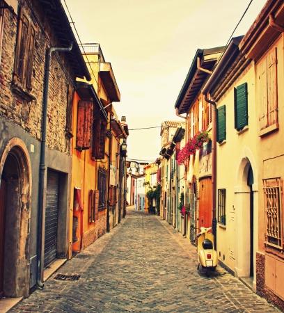 rimini: Old street in Rimini, Italy