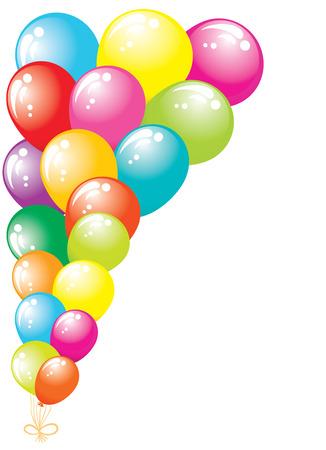 carnival border: Color glossy balloons border Illustration