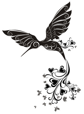 Tattoo Hummingbird  Vector Stock Vector - 25515725