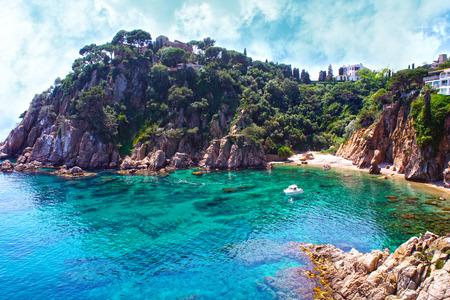 Summer beach. Nature and travel . Spain, Costa Brava
