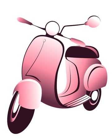 scooters: Retro scooter  Vector illustration