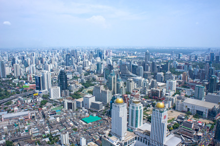 Bangkok Cityscape. Aerial view on Panorama of Bangkok, Thailand photo