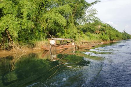 skiff: River in jungle beautiful landscape Stock Photo