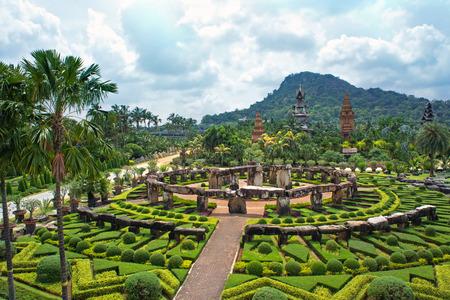 pattaya thailand: Nong Nooch Tropical Botanical Garden, Pattaya, Thailand Editorial