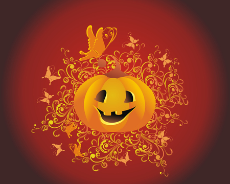 jackolantern: Halloween background  Jack-o-lantern  Illustration