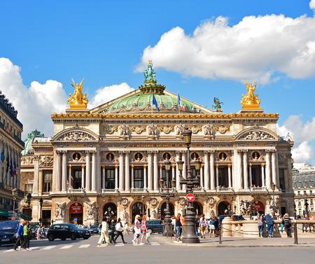 Opera Garnier on August 18,2014 in Paris, France.