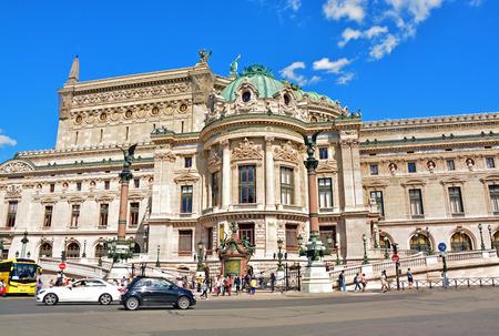 garnier: Opera Garnier on August 18,2014 in Paris, France. Editorial