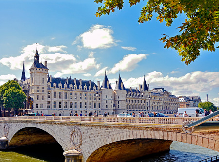 part prison: Castle Conciergerie - former royal palace and prison located on the Cite Island. Today it is part of larger complex known as Palais de Justice. Paris, France. Editorial
