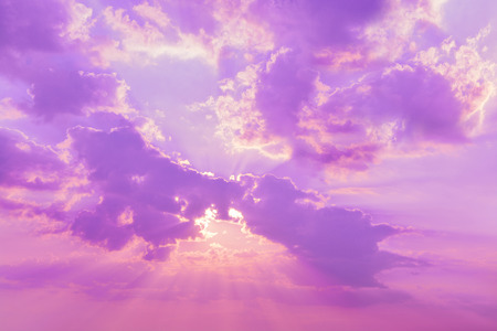 cloudy sky: Beautiful nature background. Sunset sky and clouds at twilight time Stock Photo
