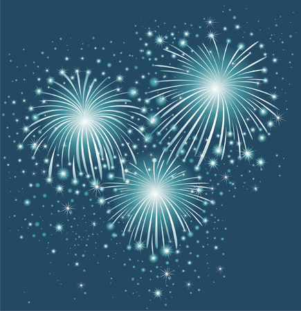 festive: Starry festive fireworks background