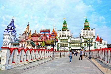case colorate: Bella Cremlino in Izmaylovo, Mosca, Russia