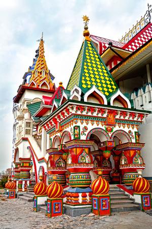 palacio ruso: Hermosa Kremlin en Izmaylovo, Moscú, Rusia