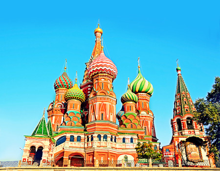 red square: Saint Basils Cathedral in Red Square, Moscow, Russia.