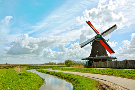 holland: Windmills in Holland, Netherlands.