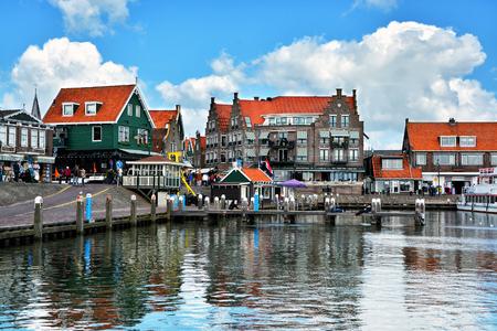 dutch: Volendam - charming dutch fishing village, small town in North Holland near Amsterdam, Netherlands