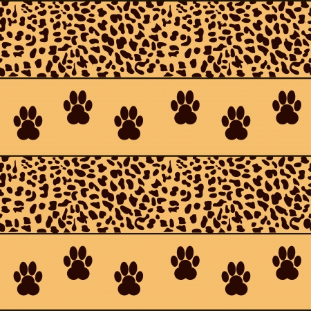 vector leopard  background with traces Vector
