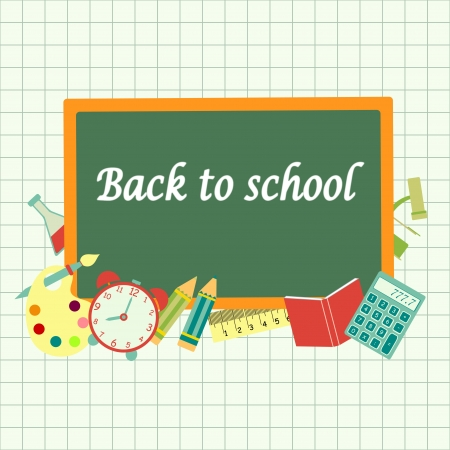 back to school vector card Vector