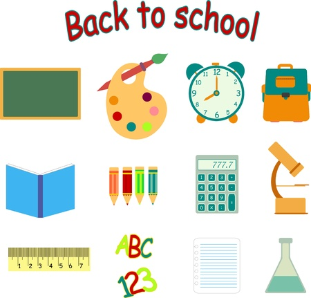 back to school vector icon set Vector