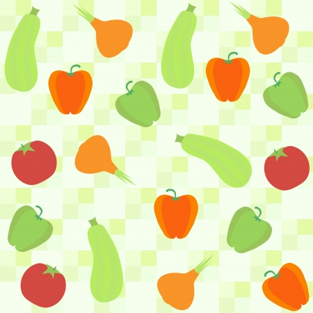 greengrocery: seamless background with squash pepper and onion