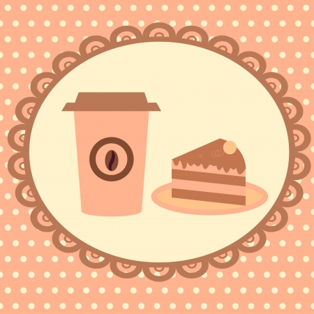 seamless background with cakes and desserts Vector
