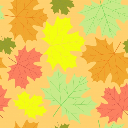 vector autumn maple leaves background Vector