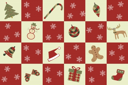 seamless merry christmas background with christmas icons Vector
