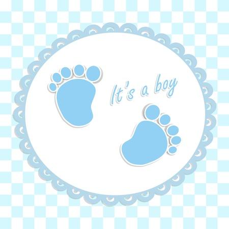 Scheda per il neonato in stile scrabbook Archivio Fotografico - 21688353
