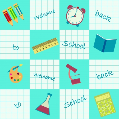 seamless background welcome back to school Vector