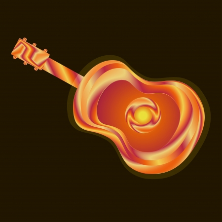 Guitar bright absrtact illustration Vector