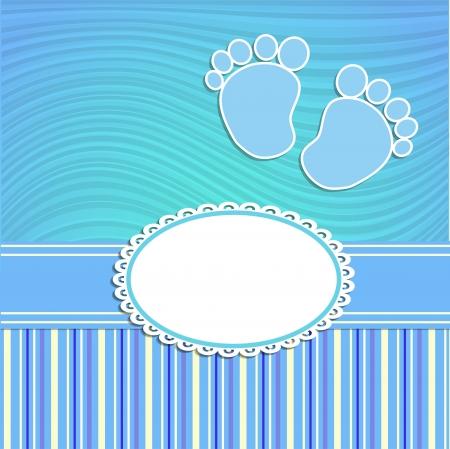 nato: Scheda per il neonato in stile scrabbook o bambino doccia invito Vettoriali