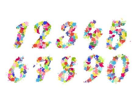 vector numbers splash illustration illustration