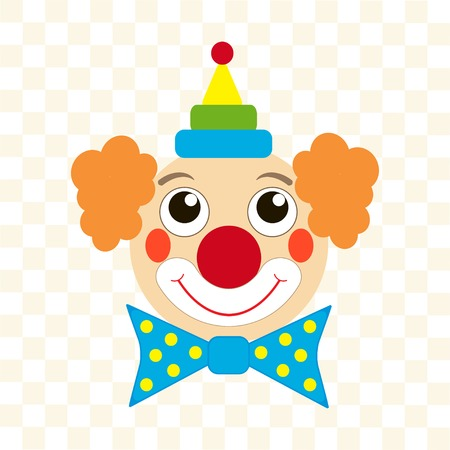 white party: gelukkig clown gezicht