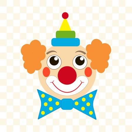chapeau blanc: visage heureux de clown