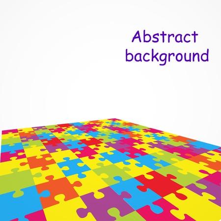 Puzzle sfondo colorato Archivio Fotografico - 35889184