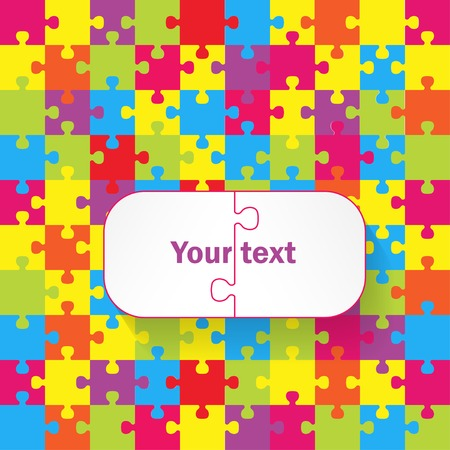 Puzzles colorful background