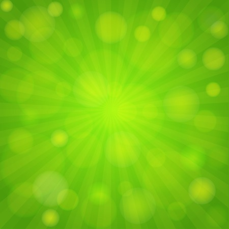 Spring green background. Bokeh and light  effect. Vector eps 10 向量圖像