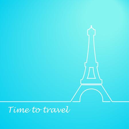 Eiffel tower vector illustration Vector