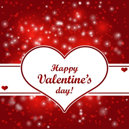 Valentines day card con il cuore. Illustrazione vettoriale. Archivio Fotografico - 39364734