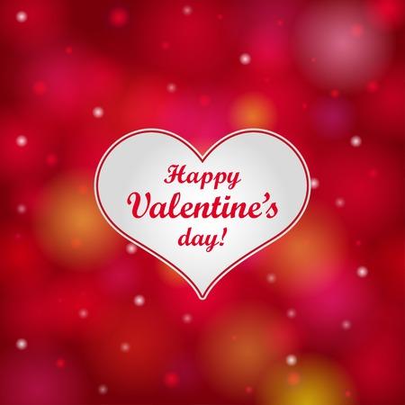 Valentines day card con il cuore. Illustrazione vettoriale. Archivio Fotografico - 39364755
